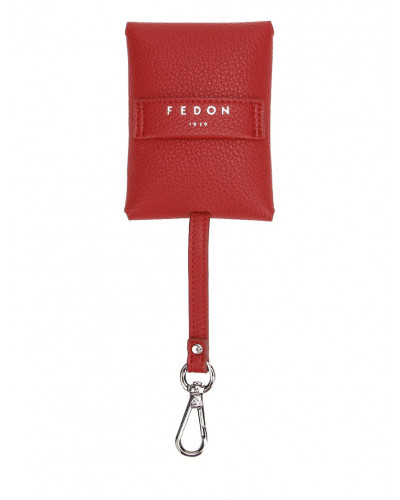 Fedon 1919 - Charme - Key case with carabiner, Red - UA1930004/RO