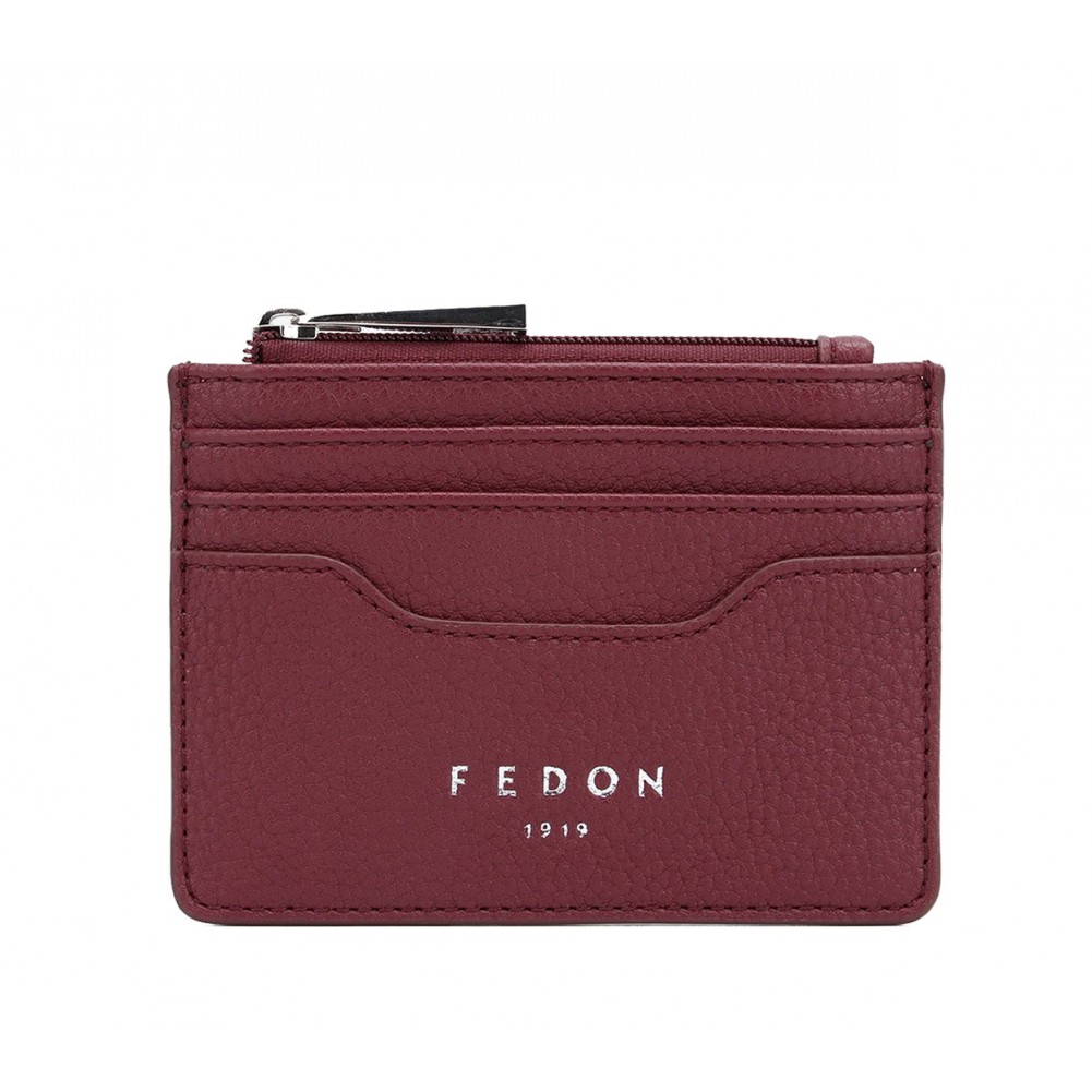 Fedon 1919 - Charme - Card holder with zip, Dark Red - UA1930006/RS