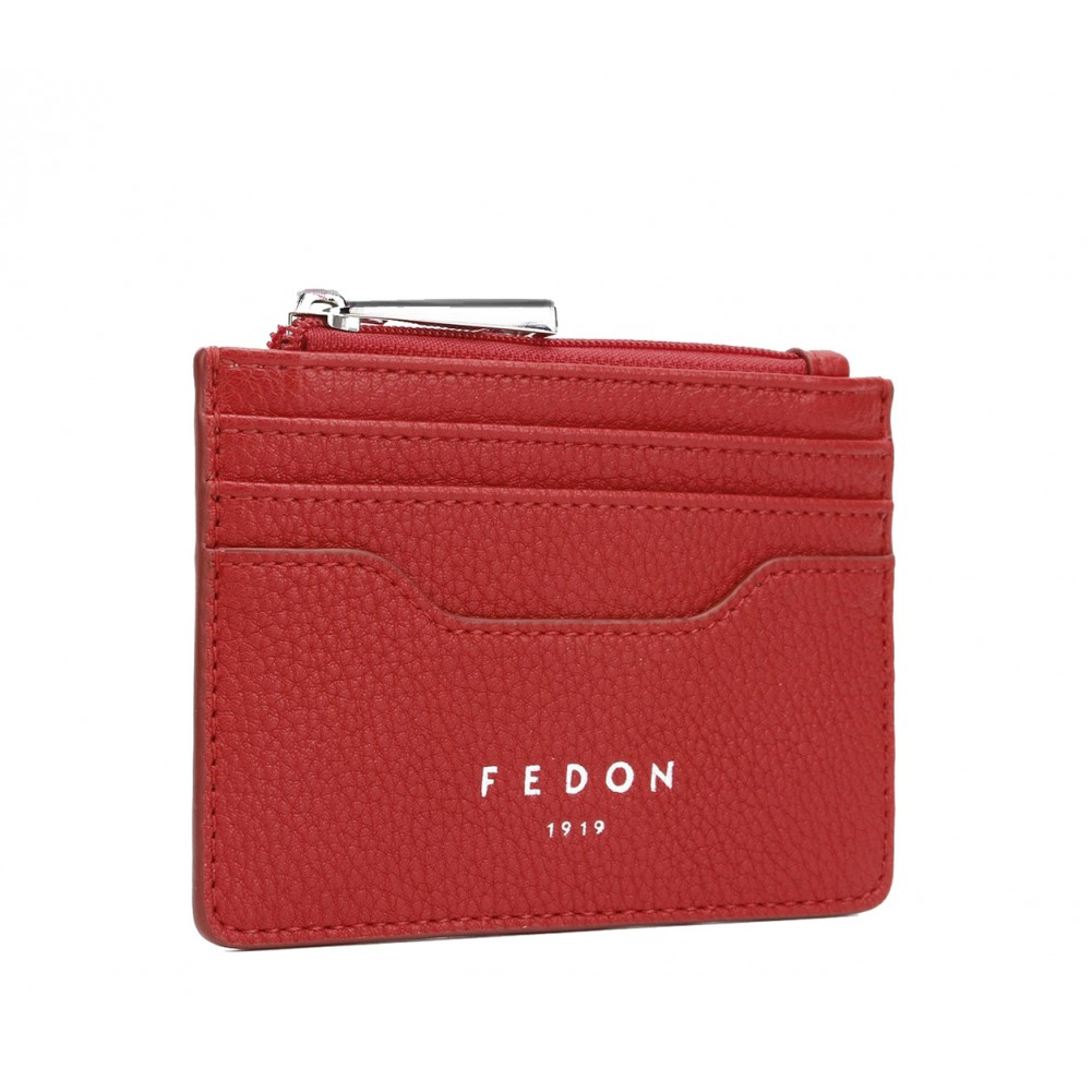 Fedon 1919 - Charme - Card holder with zip, Red - UA1930006/RO