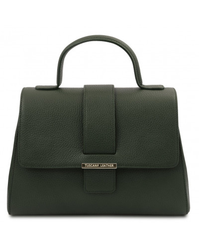 Tuscany Leather TL Bag - Leather handbag, Forest Green - TL142156/62