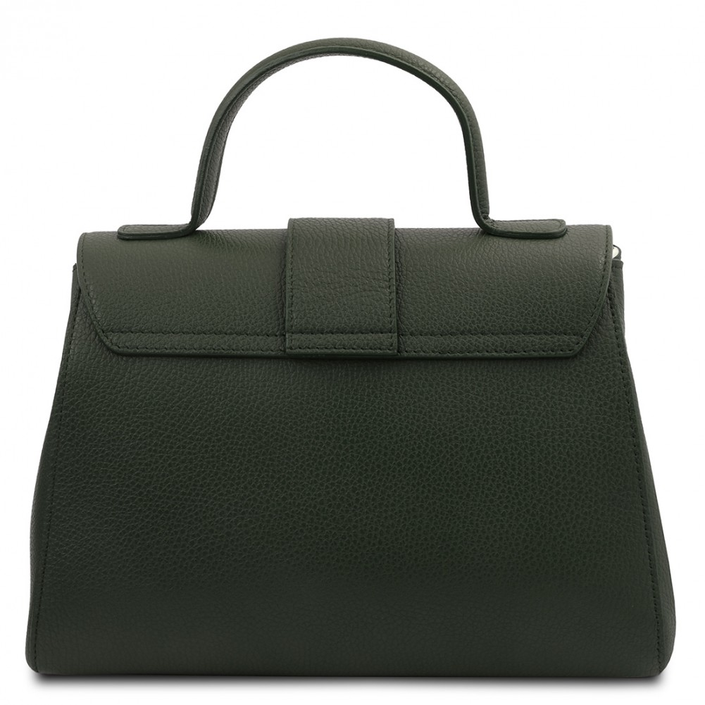 Tuscany Leather TL Bag - Borsa a mano in pelle, Verde Foresta - TL142156/62
